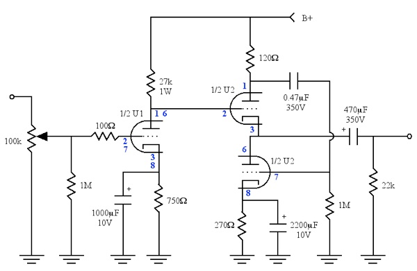 The first on tube amp schematics