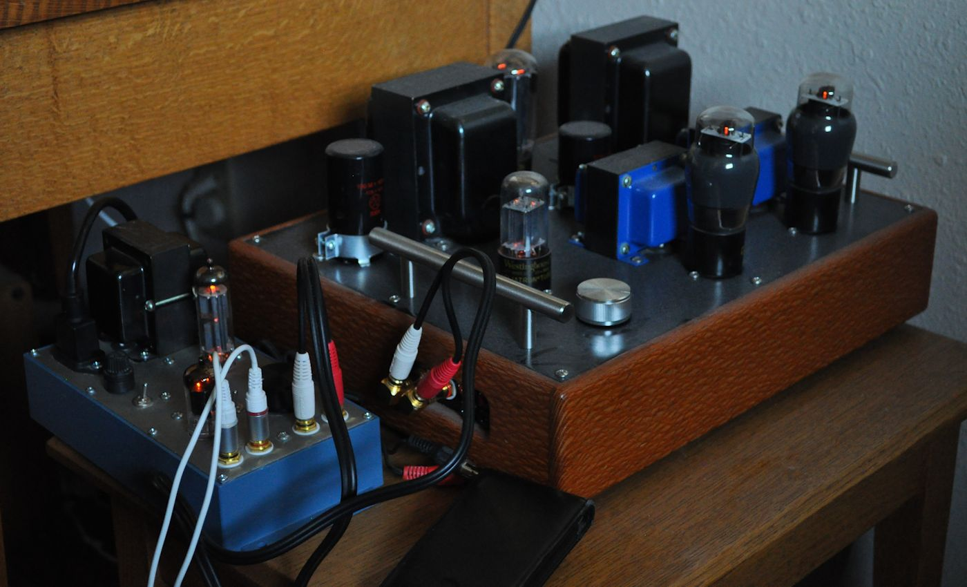 The Universal Preamp Cascade Tubes Example Of Amplifier Assembly With Lm1875 Suggested By National In This Picture Ipod Line Out Is Driving Directly Connected To Lacewood Amp And Its Volume At Max