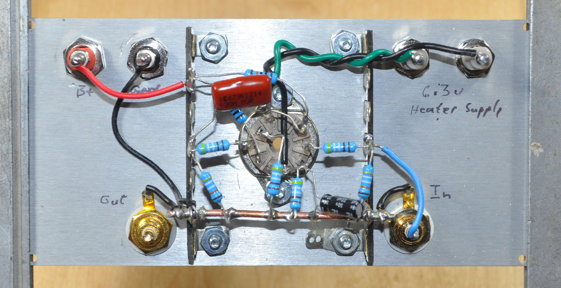 This picture helps to illustrate why the brassboard is so valuable in this situation. The close spacing and complex layout required by point to point wiring ... : point to point wiring - yogabreezes.com